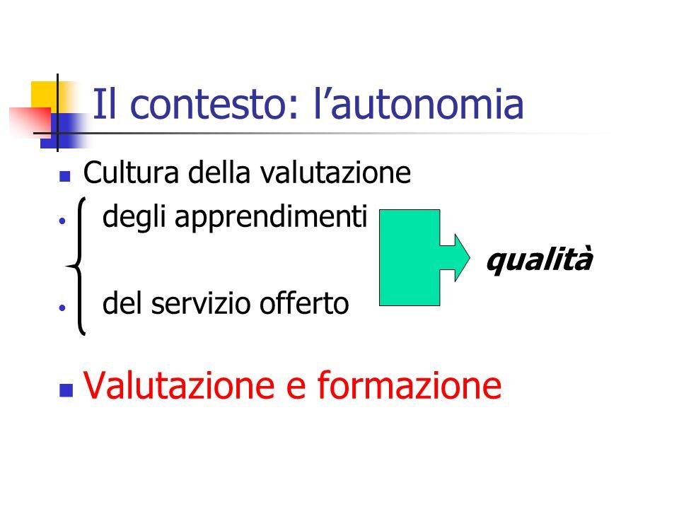Integrazione significativa tra strumenti quantitativi (verifica) e strumenti qualitativi (valutazione) tra dimensione qualitativa (tipologia delle conoscenze, abilità e competenze) e dimensione quantitativa (numero degli studenti)