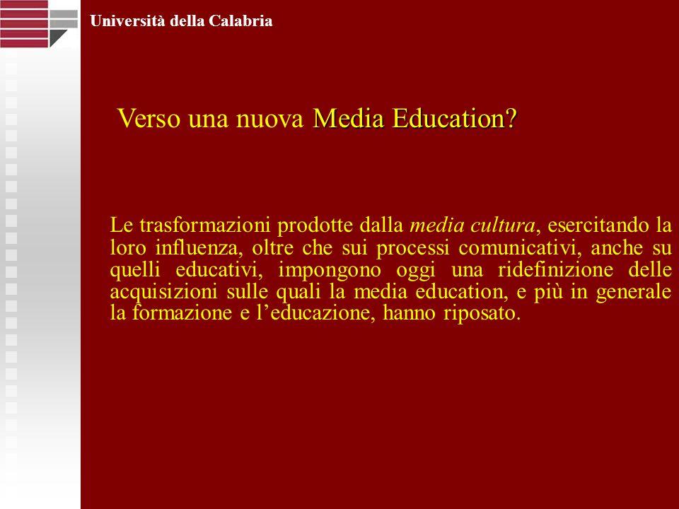 Le trasformazioni prodotte dalla media cultura, esercitando la loro influenza, oltre che sui processi comunicativi, anche su quelli educativi, impongono oggi una ridefinizione delle acquisizioni sulle quali la media education, e più in generale la formazione e leducazione, hanno riposato.
