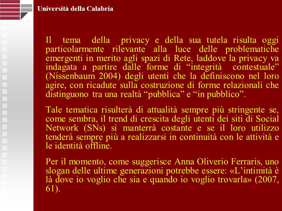 Il tema della privacy e della sua tutela risulta oggi particolarmente rilevante alla luce delle problematiche emergenti in merito agli spazi di Rete,