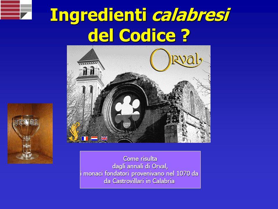 Ingredienti calabresi del Codice .