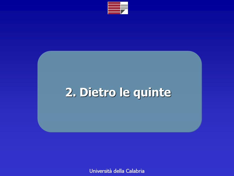 Università della Calabria 2. Dietro le quinte