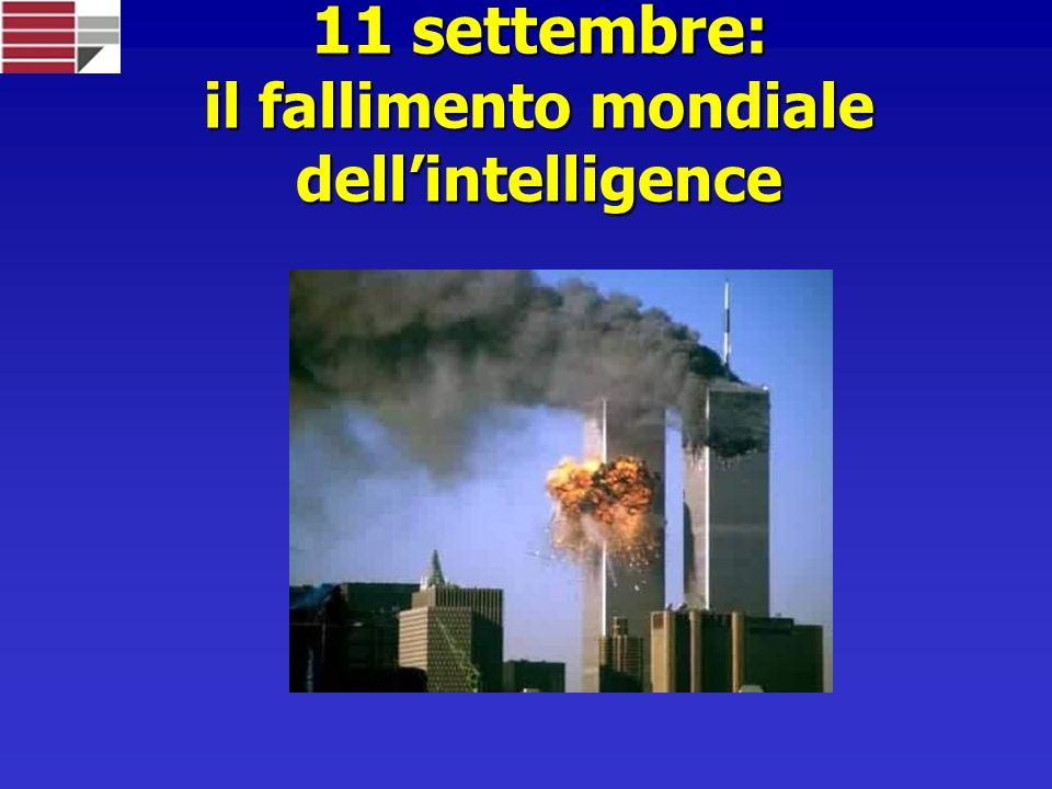11 settembre: il fallimento mondiale dellintelligence