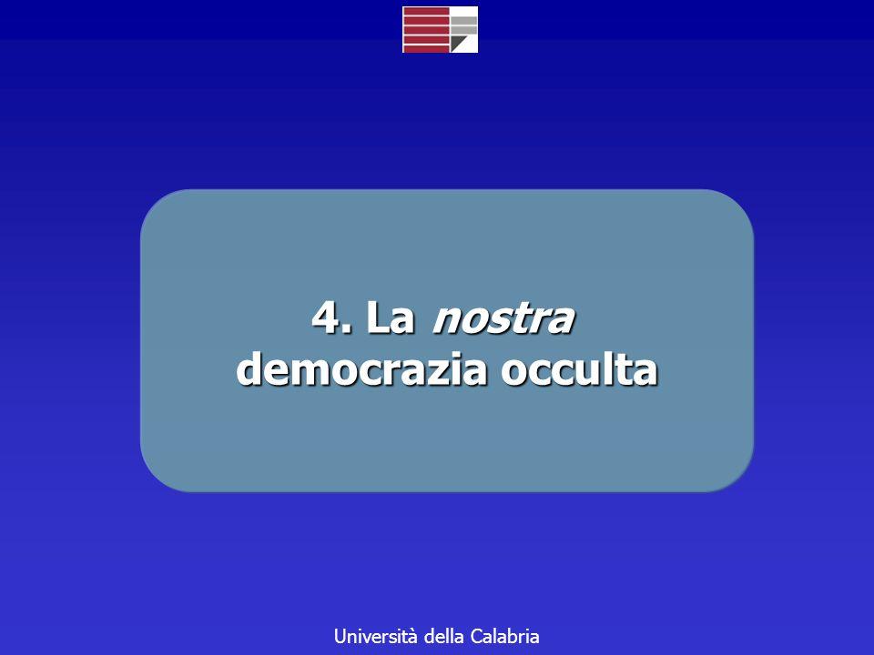 Università della Calabria 4. La nostra democrazia occulta