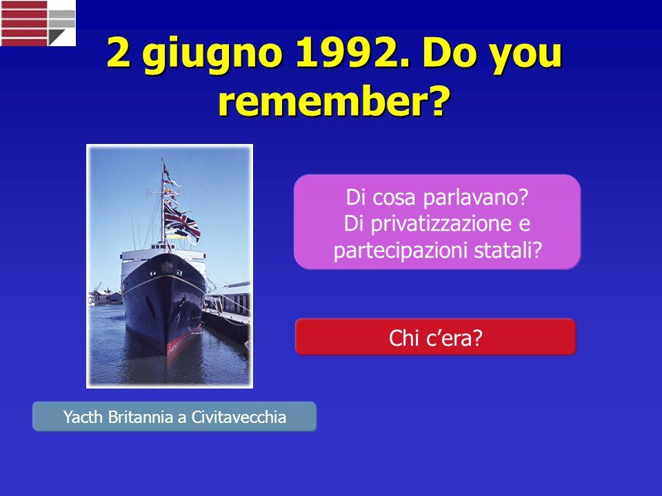 2 giugno 1992.Do you remember. Di cosa parlavano.
