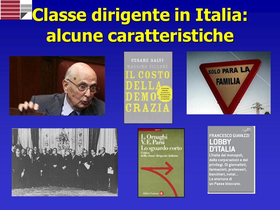 Classe dirigente in Italia: alcune caratteristiche