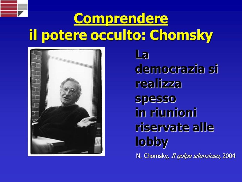 Comprendere il potere occulto: Chomsky La democrazia si realizza spesso in riunioni riservate alle lobby N.