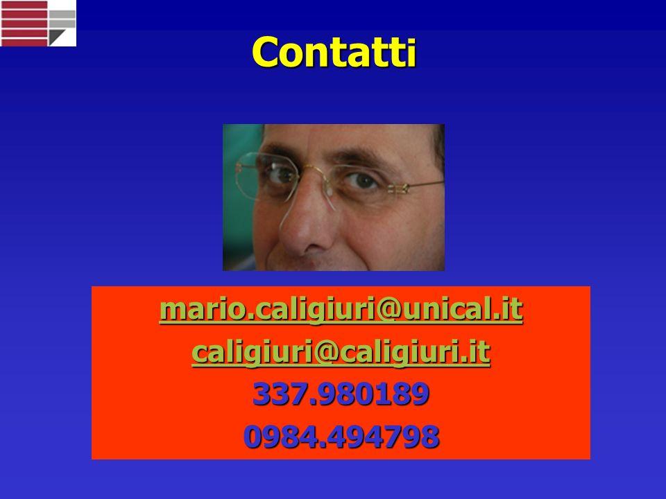 Contatt i mario.caligiuri@unical.it caligiuri@caligiuri.it 337.9801890984.494798