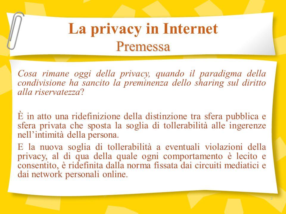 Cosa rimane oggi della privacy, quando il paradigma della condivisione ha sancito la preminenza dello sharing sul diritto alla riservatezza? È in atto