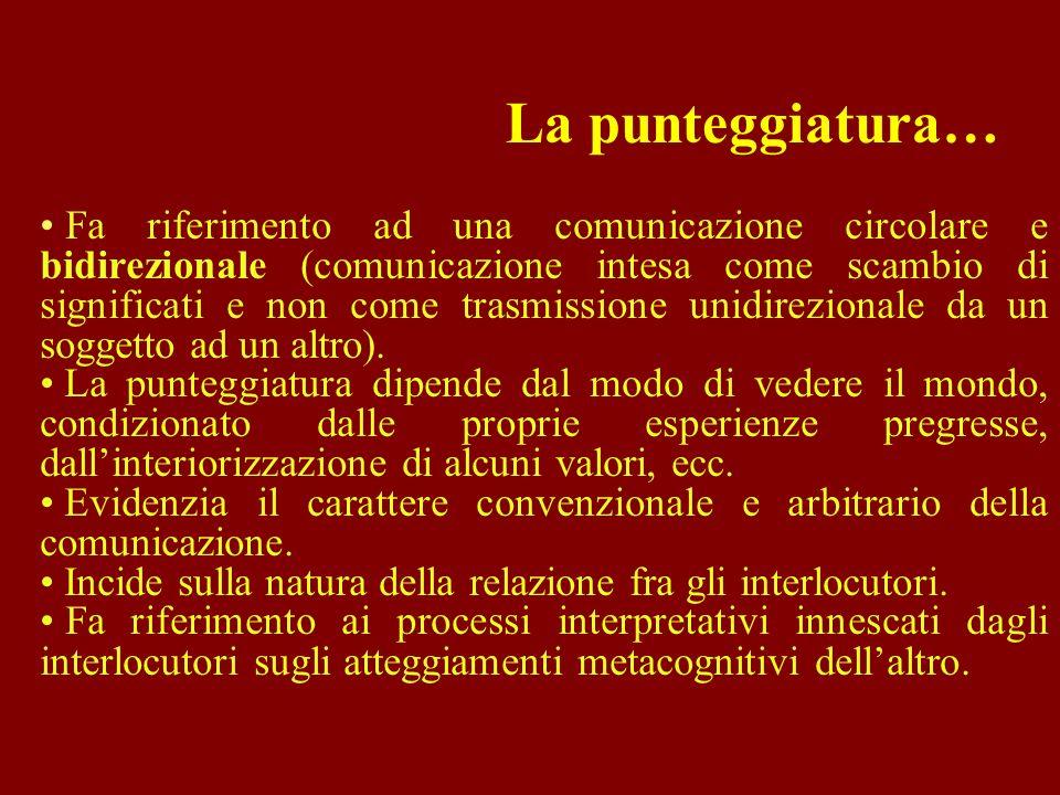 Fa riferimento ad una comunicazione circolare e bidirezionale (comunicazione intesa come scambio di significati e non come trasmissione unidirezionale