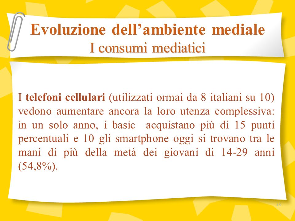 I telefoni cellulari (utilizzati ormai da 8 italiani su 10) vedono aumentare ancora la loro utenza complessiva: in un solo anno, i basic acquistano pi