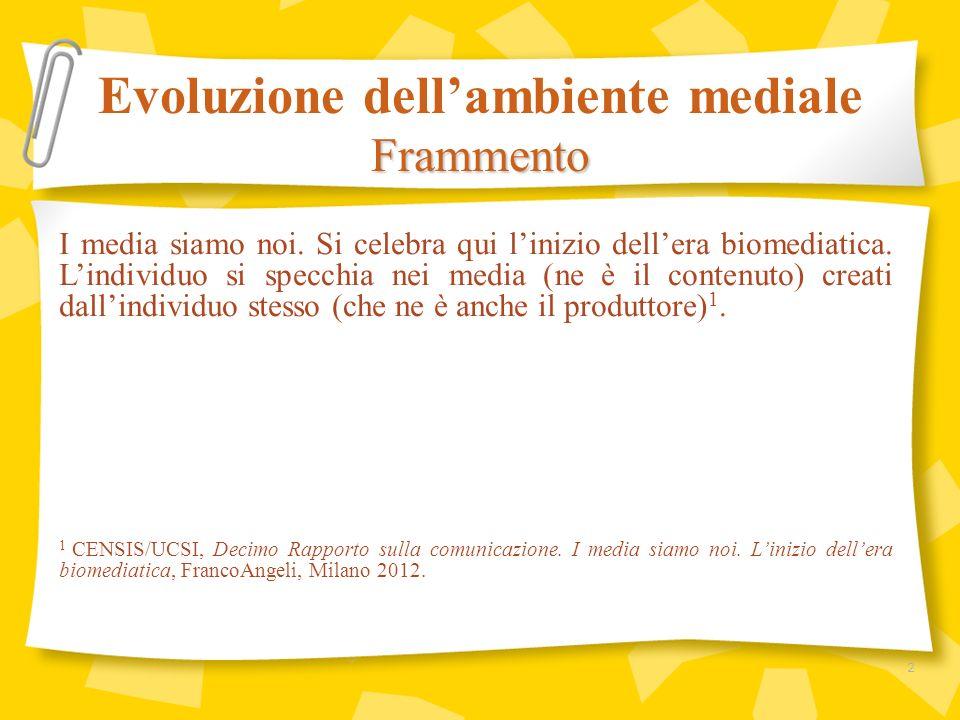 Complessivamente, la configurazione delle diete mediatiche degli italiani lascia intravedere soggetti meno teledipendenti, più digitali, ma senza stampa.