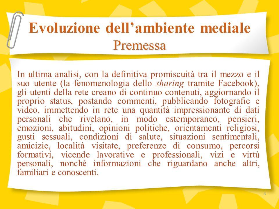 Evoluzione dellambiente mediale I consumi mediatici 19