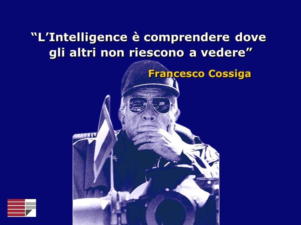 LIntelligence è comprendere dove gli altri non riescono a vedere LIntelligence è comprendere dove gli altri non riescono a vedere Francesco Cossiga