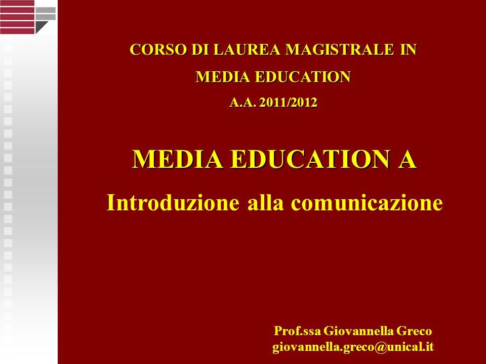 Università della Calabria La comunicazione… è, nello stesso tempo, fondamentale e vitale.