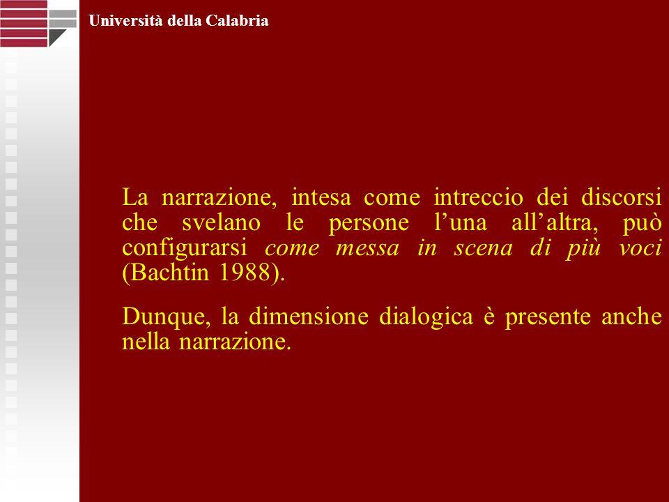 Università della Calabria La narrazione, intesa come intreccio dei discorsi che svelano le persone luna allaltra, può configurarsi come messa in scena