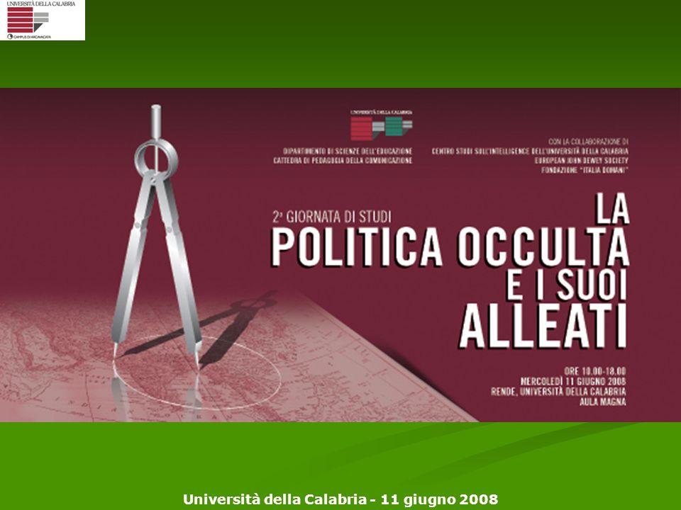 Università della Calabria - 11 giugno 2008