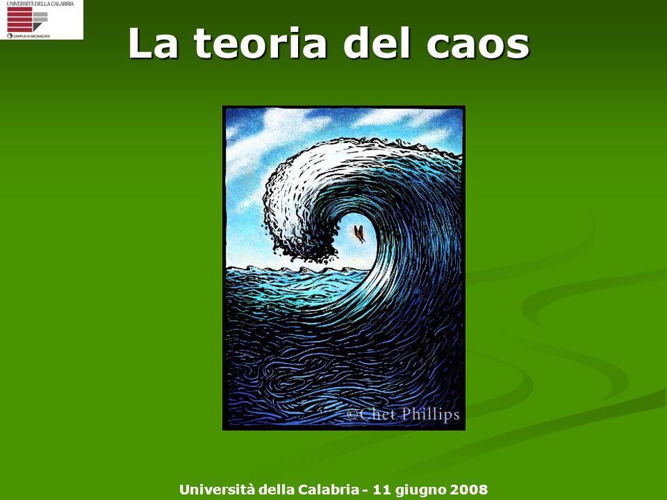 Università della Calabria - 11 giugno 2008 La teoria del caos