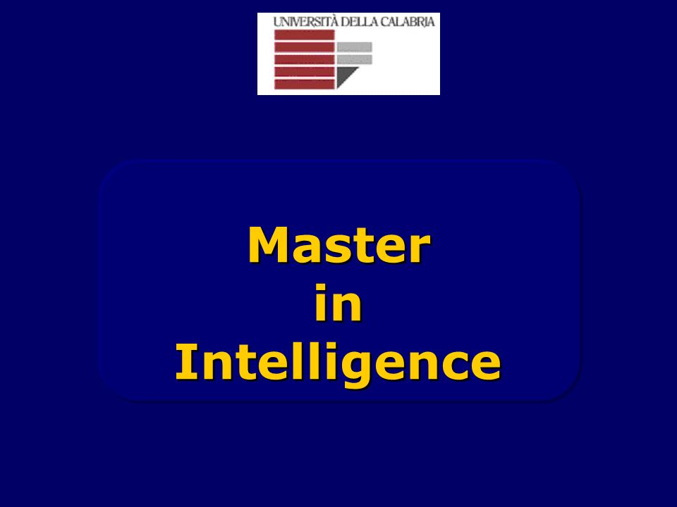 Master in Intelligence Master in Intelligence
