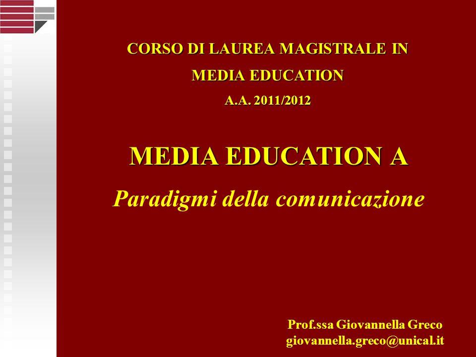 Università della Calabria Paradigma informazionale Metafora del viaggio I significati della comunicazione sono prodotti in un luogo esterno ad essa e da qui trasferiti diffusivamente nello spazio circostante per esercitarvi forme di controllo e di influenza Caratteristiche principali Trasporto di informazioni preconfezionate Trasmissione di significati