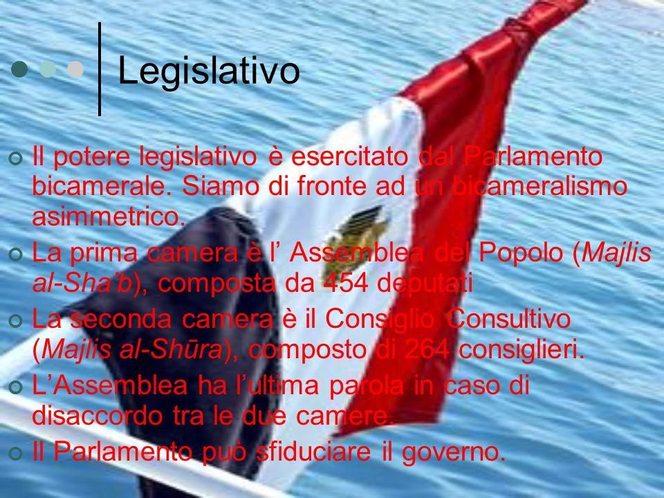 Legislativo Il potere legislativo è esercitato dal Parlamento bicamerale. Siamo di fronte ad un bicameralismo asimmetrico. La prima camera è l Assembl