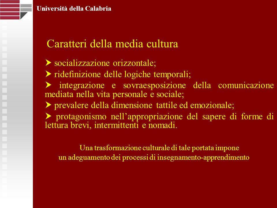 socializzazione orizzontale; ridefinizione delle logiche temporali; integrazione e sovraesposizione della comunicazione mediata nella vita personale e