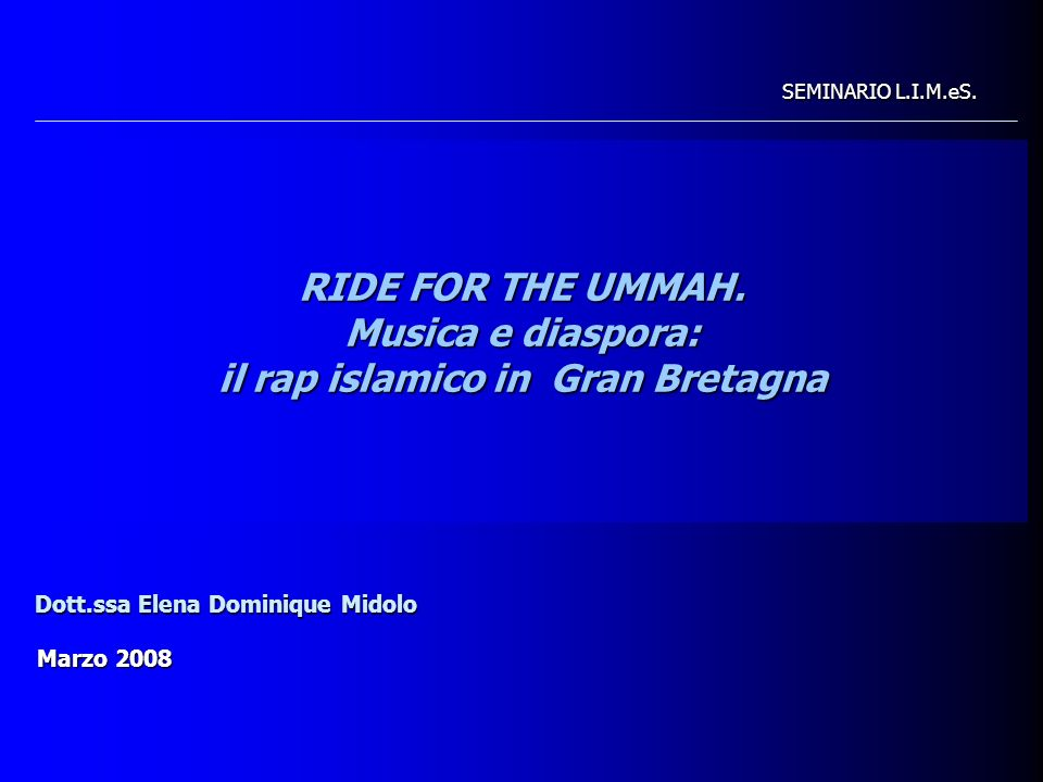 RIDE FOR THE UMMAH.