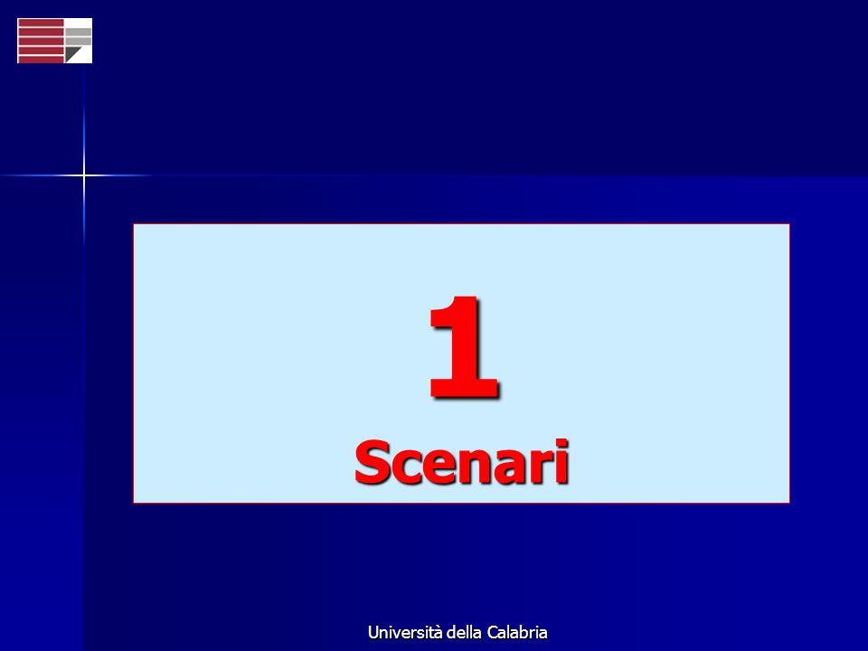 Università della Calabria 1Scenari