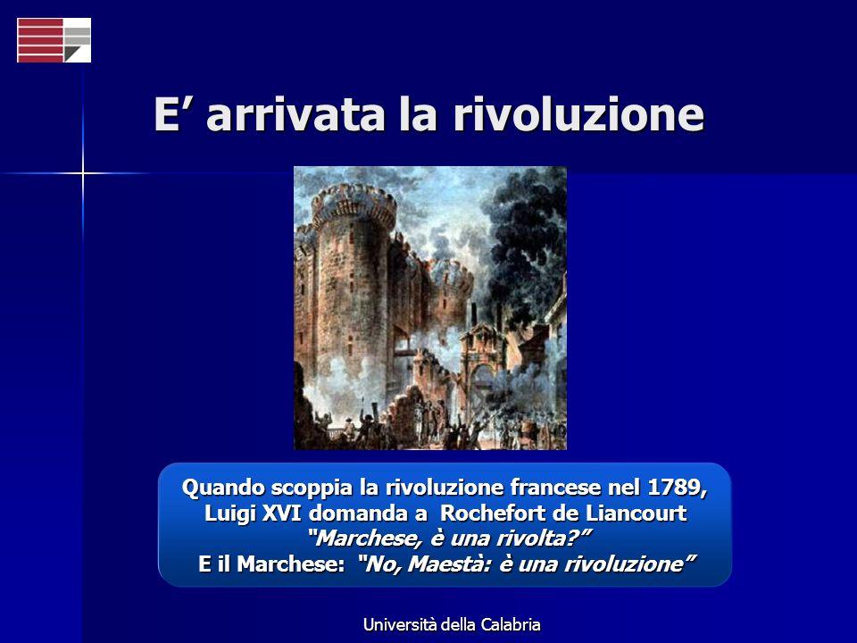 E arrivata la rivoluzione Quando scoppia la rivoluzione francese nel 1789, Luigi XVI domanda a Rochefort de Liancourt Marchese, è una rivolta? E il Ma