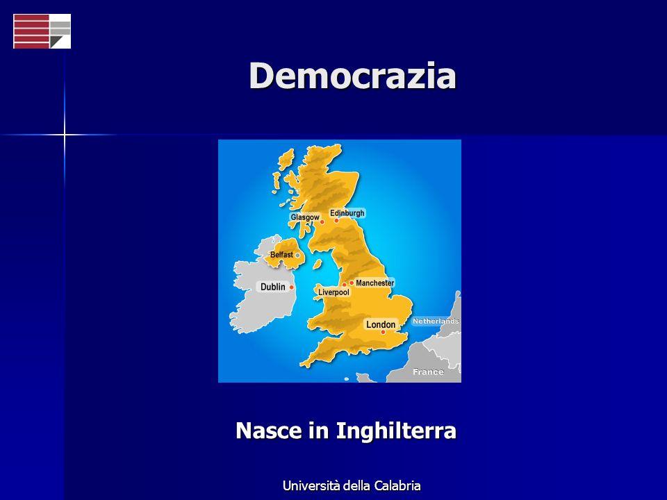 Università della Calabria Democrazia Nasce in Inghilterra