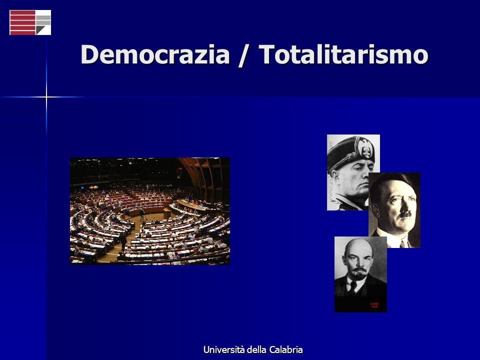 Università della Calabria Democrazia / Totalitarismo