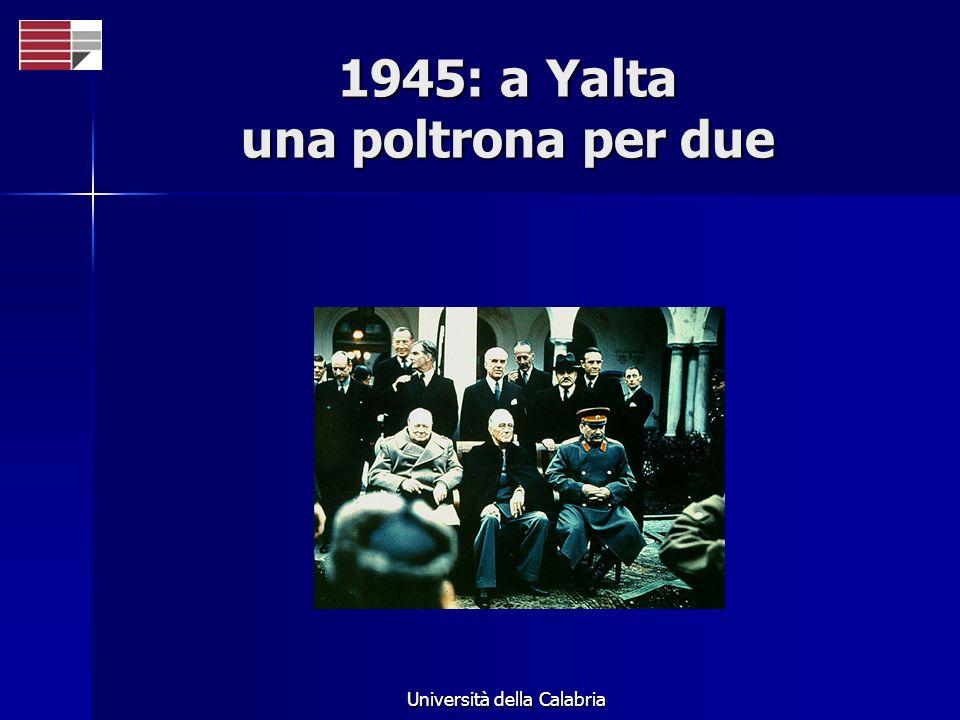 Università della Calabria 1945: a Yalta una poltrona per due