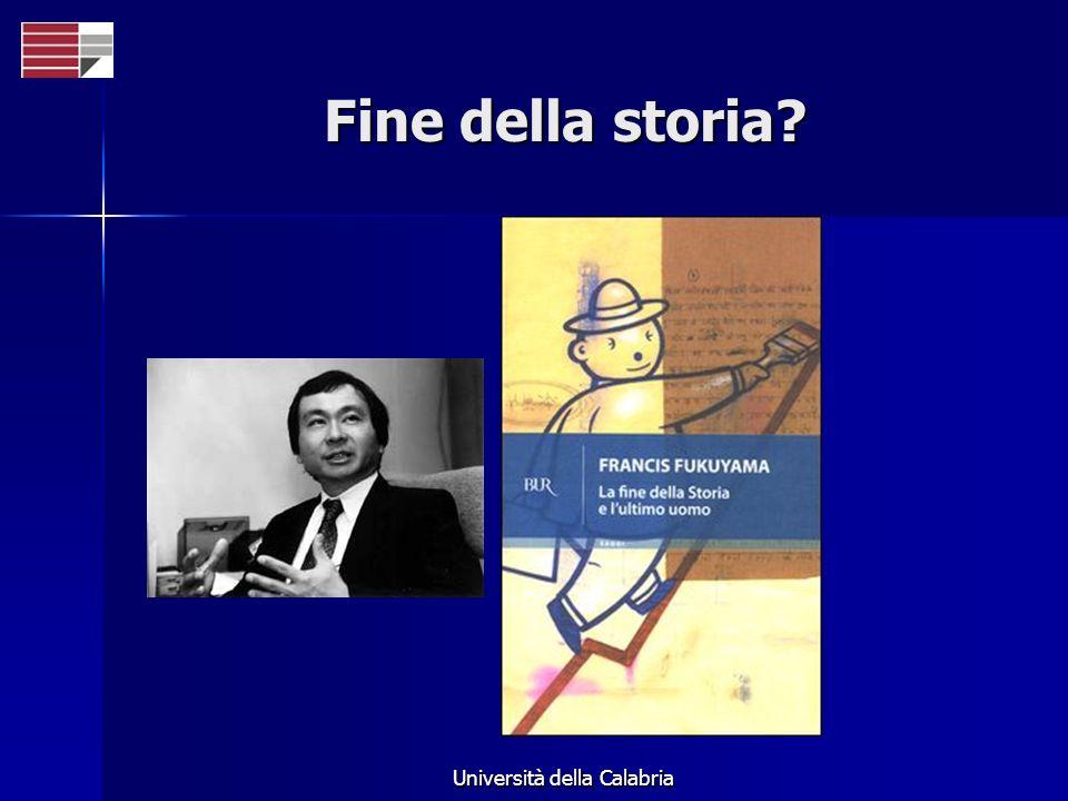 Università della Calabria Fine della storia?
