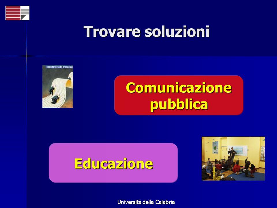 Università della Calabria Trovare soluzioni Comunicazione pubblica Educazione
