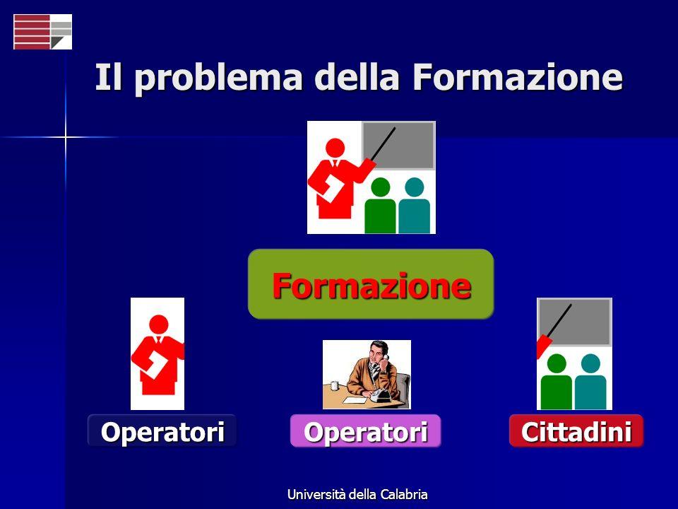 Università della Calabria Il problema della Formazione Formazione OperatoriCittadiniOperatori