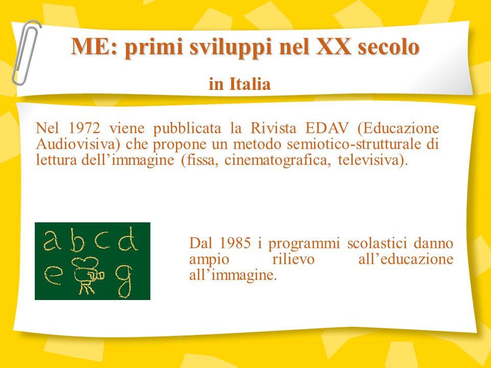 Nel 1991 iniziano le prime esperienze di Media Education nellambito dellISCOS (Istituto di Scienze delle Comunicazione Sociale) dellUniversità Salesiana.