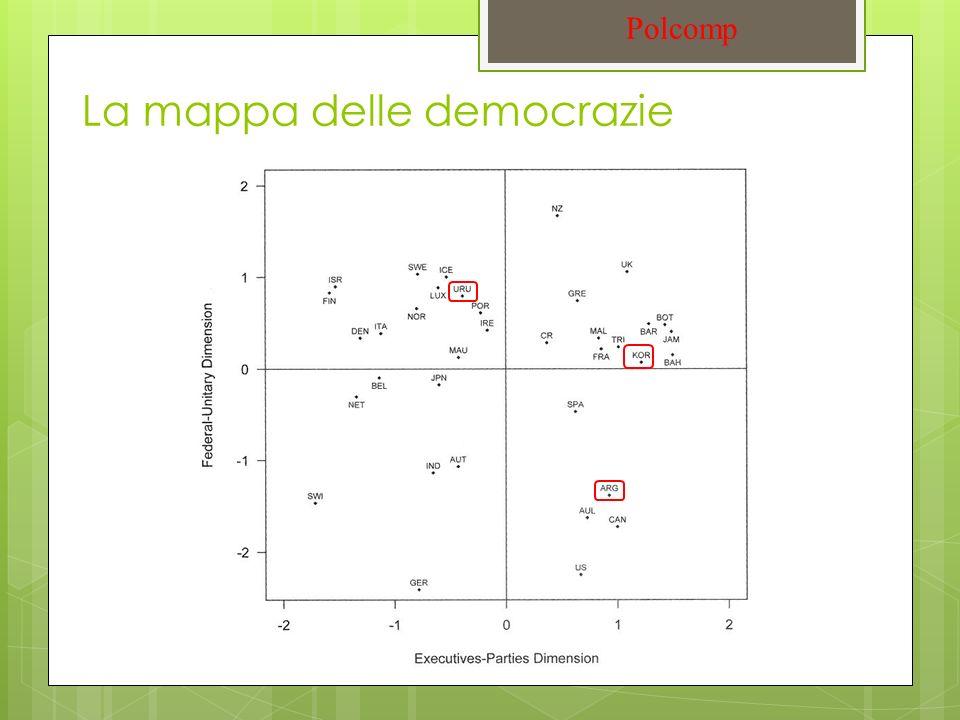 La mappa delle democrazie Polcomp