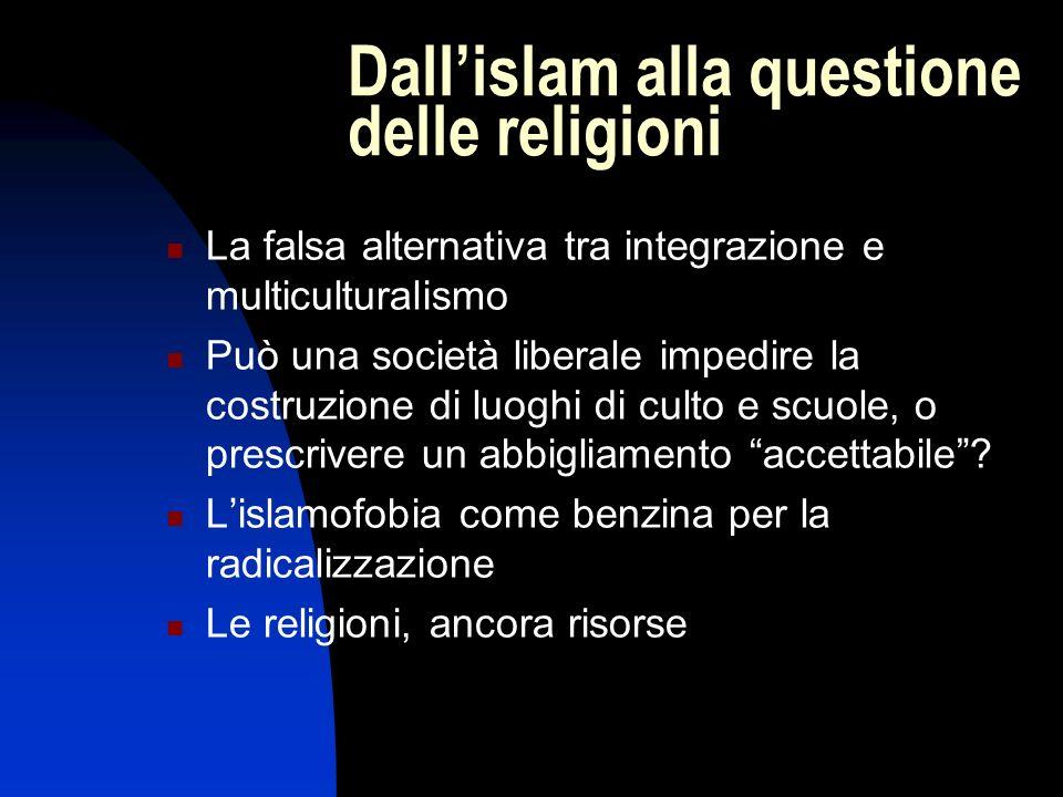 La falsa alternativa tra integrazione e multiculturalismo Può una società liberale impedire la costruzione di luoghi di culto e scuole, o prescrivere