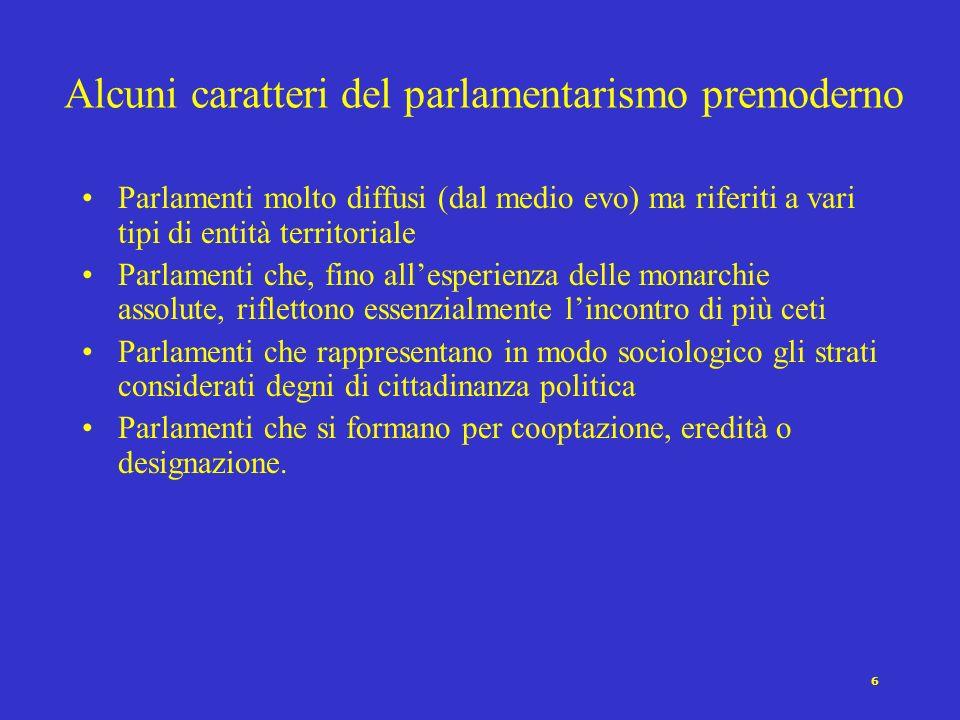 5 Diverse accezioni del concetto di rappresentanza democratica [Pitkin 1967] R. come conferimento di autorità R. come azione per conto di R. come resp