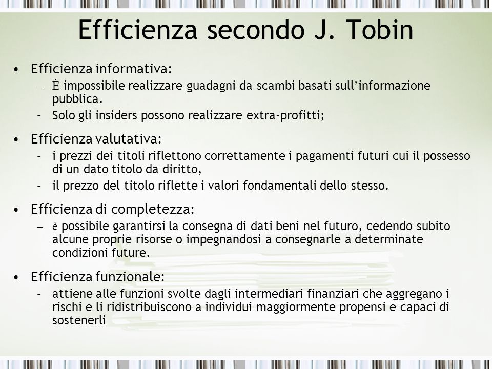 Efficienza secondo J.