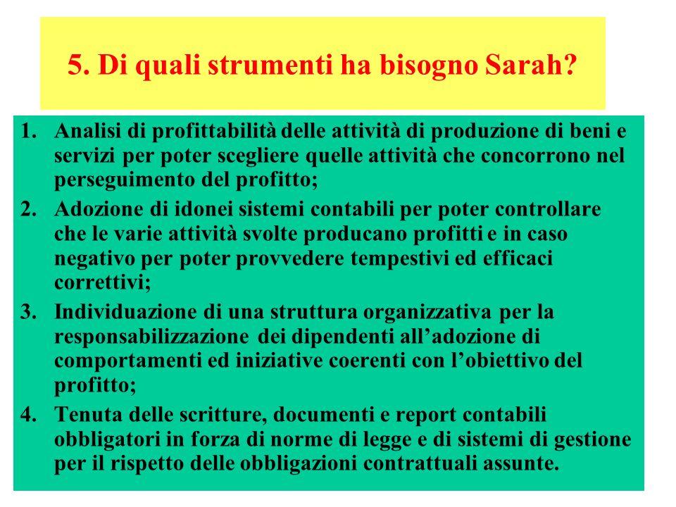 12 5.Di quali strumenti ha bisogno Sarah.