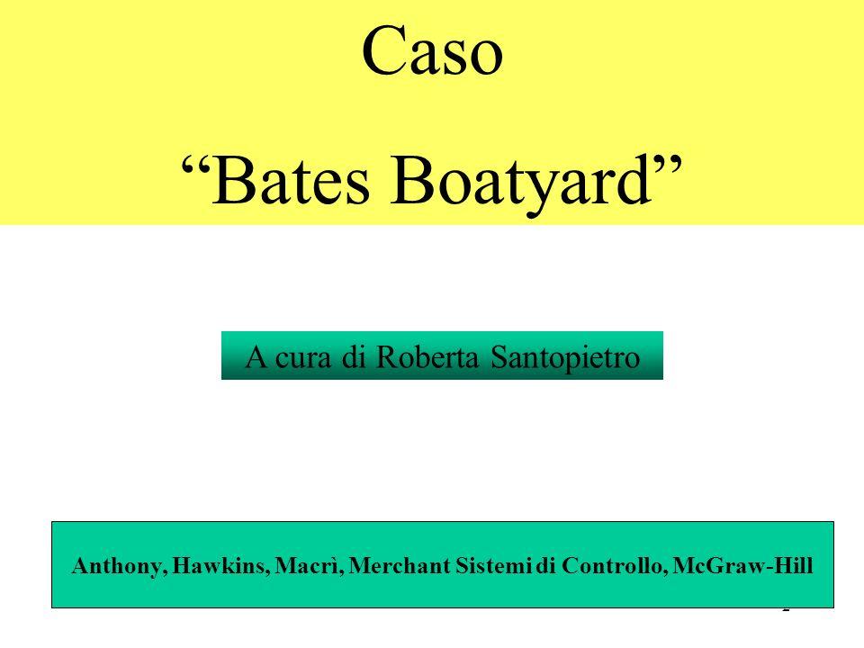 2 Caso Bates Boatyard A cura di Roberta Santopietro Anthony, Hawkins, Macrì, Merchant Sistemi di Controllo, McGraw-Hill