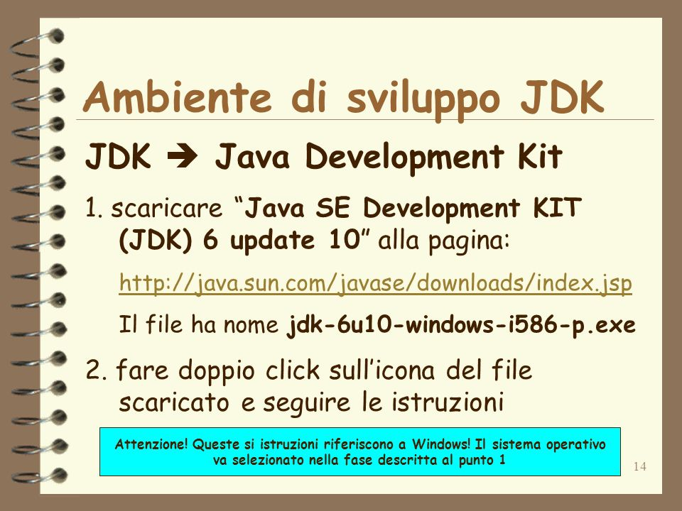 14 Ambiente di sviluppo JDK JDK Java Development Kit 1.