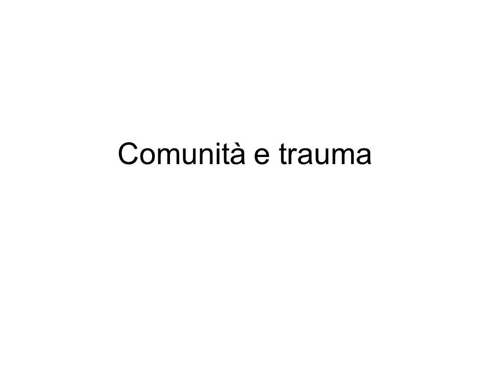 Comunità e trauma