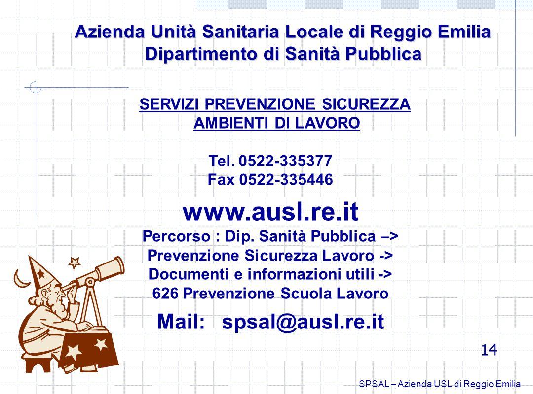 Azienda Unità Sanitaria Locale di Reggio Emilia Azienda Unità Sanitaria Locale di Reggio Emilia Dipartimento di Sanità Pubblica Dipartimento di Sanità