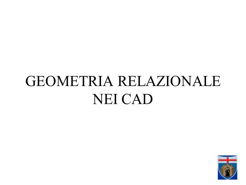 GEOMETRIA RELAZIONALE NEI CAD