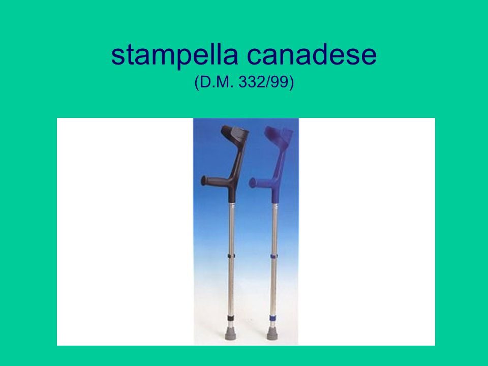 stampella canadese (D.M. 332/99)