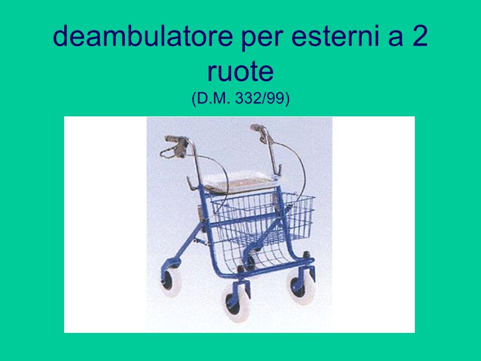 deambulatore per esterni a 2 ruote (D.M. 332/99)