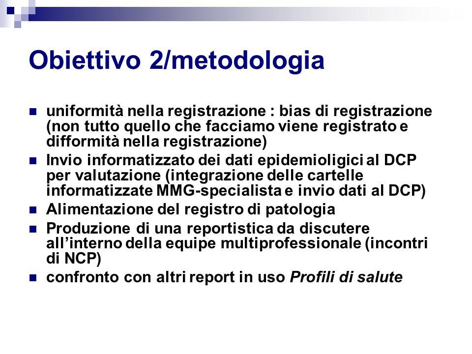 Obiettivo 2/metodologia uniformità nella registrazione : bias di registrazione (non tutto quello che facciamo viene registrato e difformità nella regi