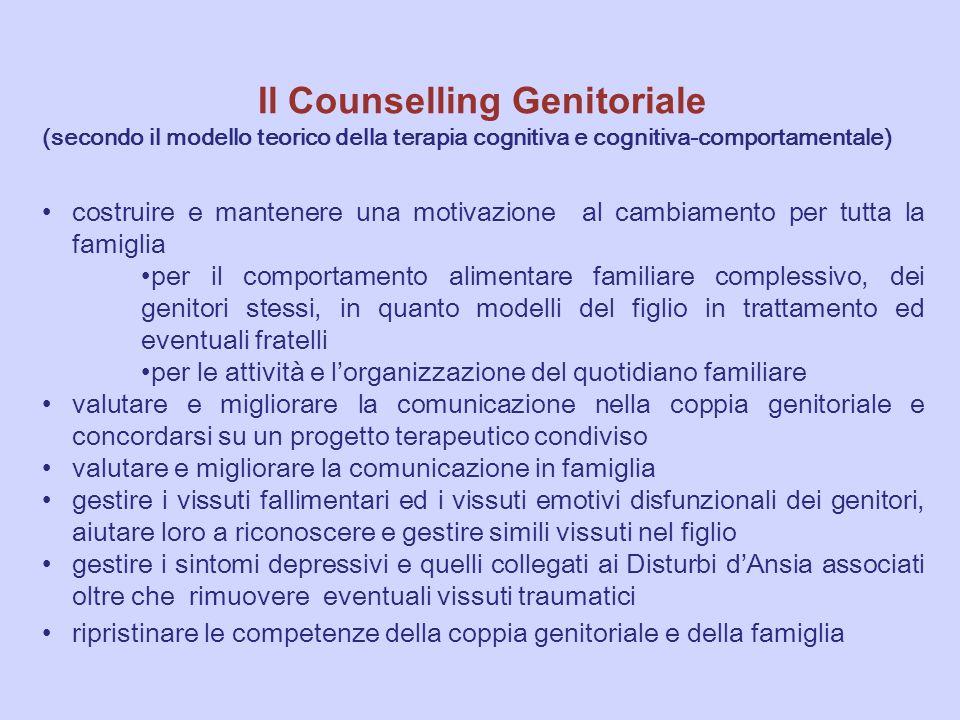 Il Counselling Genitoriale (secondo il modello teorico della terapia cognitiva e cognitiva-comportamentale) costruire e mantenere una motivazione al c
