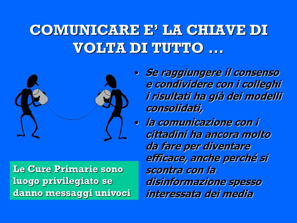COMUNICARE E LA CHIAVE DI VOLTA DI TUTTO...
